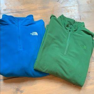 Men's north face quartet zip sweatshirt bundle